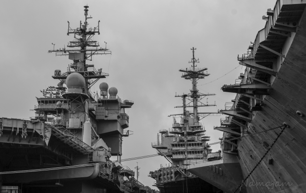 Air craft Carriers USS Kitty Hawk (CV-63) and USS Independence (CV-62)
