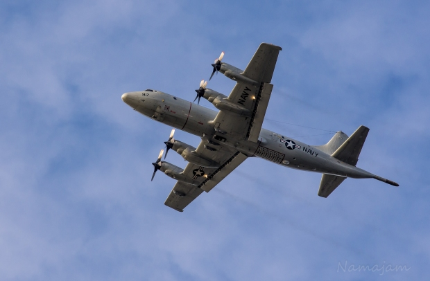 Navy P3 Orion fly by
