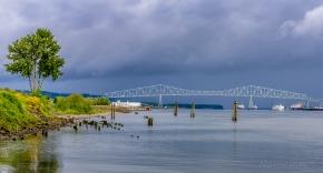 Lewis and Clark Bridge linking Oregon and Washington