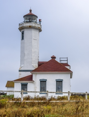 Point Wilson Lighthouse built 1913. Deactivated 1976 when it was automated.