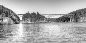 Historic bridge to Whidbey Island